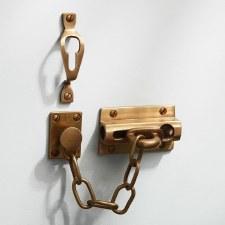 Heavy Door Security Chain Antique Satin Brass