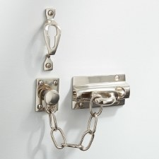 Heavy Door Security Chain Polished Nickel