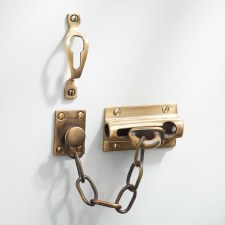 Heavy Door Security Chain Renovated Brass