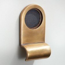 Cylinder Door Pull Antique Satin Brass