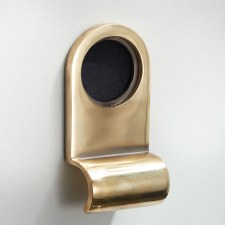 Cylinder Door Pull Renovated Brass
