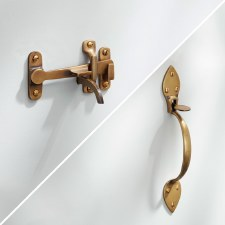 Light Suffolk Thumb Latch Antique Satin Brass