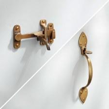 Light Suffolk Thumb Latch Antique Satin Brass