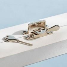 Locking Fitch Fastener Polished Nickel