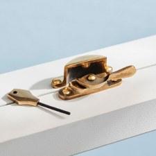 Locking Fitch Fastener Renovated Brass