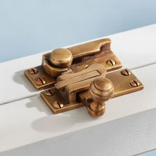 Sash Fastener Antique Satin Brass