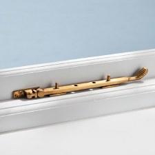 "Beehive Window Stay Antique Satin Brass 10"""