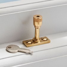 Locking Window Pin Unlacquered Brass