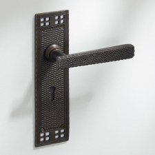 Arts & Crafts Door Handles Lock Plate