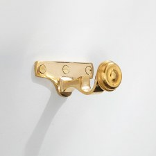 19mm Curtain Pole Centre Bracket Polished Brass