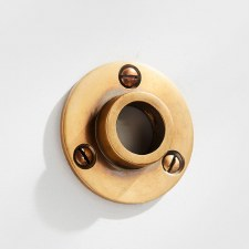19mm Curtain Pole Socket Antique Satin Brass