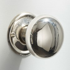 Plain Bun Mortice or Rim Door Knobs 45mm Polished Nickel