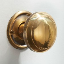 Milled Edge Mortice or Rim Door Knobs 45mm  Renovated Brass