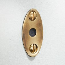 Mortice Bolt Escutcheon Renovated Brass