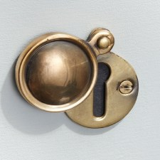 Round Covered Escutcheon Renovated Brass