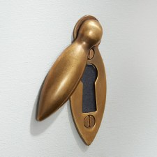Teardrop Escutcheon Antique Satin Brass