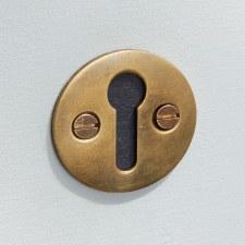 Plain Round Escutcheon Antique Satin Brass