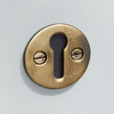 Plain Round Escutcheon Renovated Brass