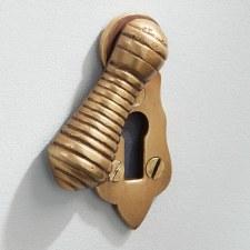 Beehive Escutcheon Antique Satin Brass