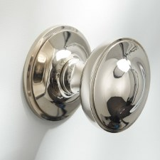 "Centre Door Knob 3"" Polished Nickel"