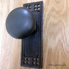 Arts & Crafts Door Knobs Oil Rubbed Bronze