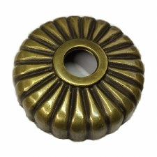 Fluted Round Dome Only Antique Satin Brass