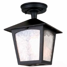Elstead York Ceiling Tube Light Black