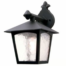 Elstead York Outdoor Wall Down Light Lantern Black