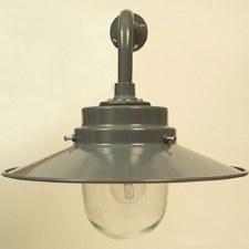 York Outdoor Wall Light Shingle Grey