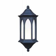 York Outdoor Wall Light Lantern Black