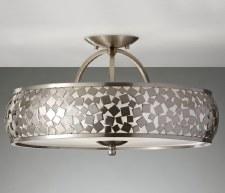 Feiss Zara Semi Flush Ceiling Light