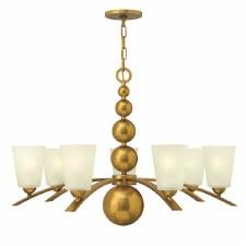 Hinkley Zelda 7 Light Chandelier Vintage Brass