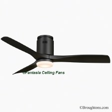 "Fantasia Elite Zeta 52"" Ceiling Fan with Light Black"