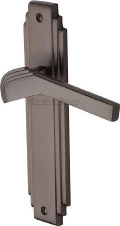 Heritage Tiffany Latch Door Handles TIF5210 Matt Bronze