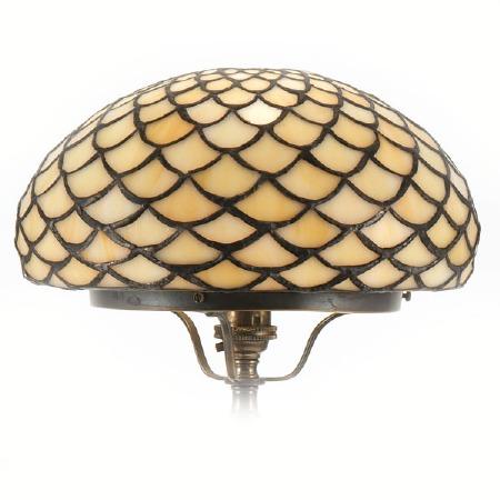 Tiffany Scale Amber Mushroom Shade