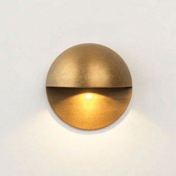 Tivola Single Wall Light Coastal Range Antique Brass