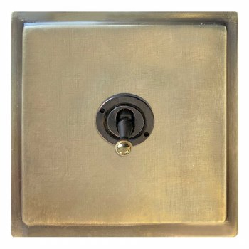 Mode Dolly Switch 1 Gang Antique Satin Brass