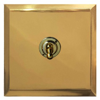 Mode Dolly Switch 1 Gang Polished Brass Lacquered