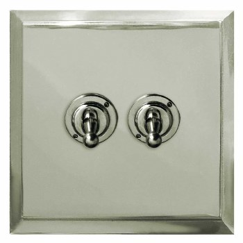 Mode Dolly Switch 2 Gang Polished Nickel