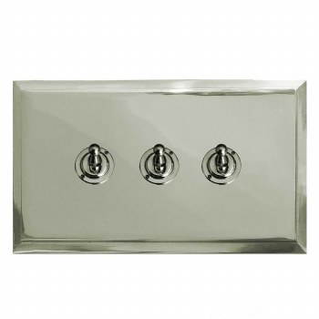 Mode Dolly Switch 3 Gang Polished Nickel