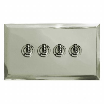 Mode Dolly Switch 4 Gang Polished Nickel