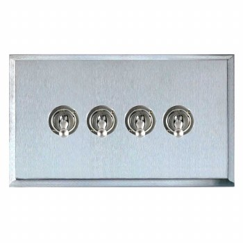 Mode Dolly Switch 4 Gang Satin Chrome