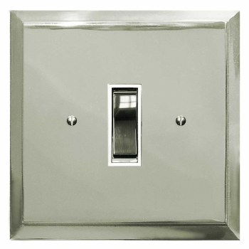 Mode Rocker Light Switch 1 Gang Polished Nickel
