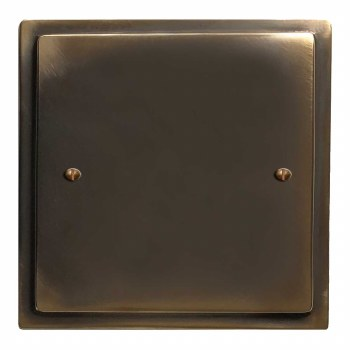 Mode Single Blank Plate Dark Antique Relief
