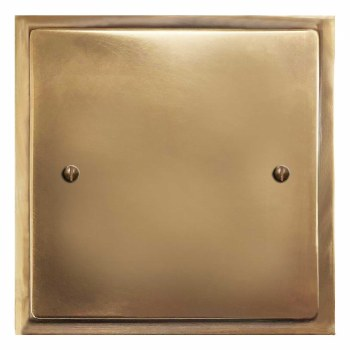Mode Single Blank Plate Hand Aged Brass