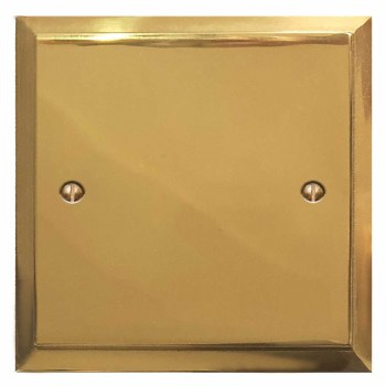 Mode Single Blank Plate Polished Brass Lacquered