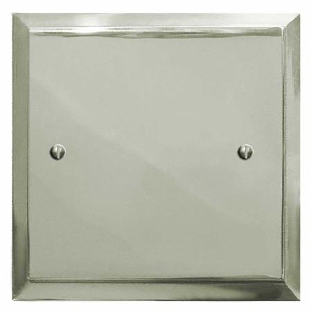 Mode Single Blank Plate Polished Nickel