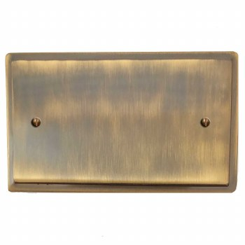 Mode Double Blank Plate Antique Brass Lacquered