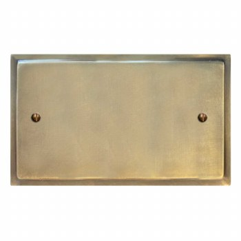 Mode Double Blank Plate Antique Satin Brass