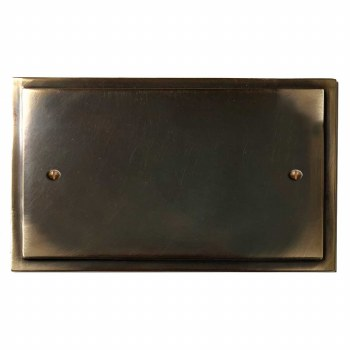 Mode Double Blank Plate Dark Antique Relief